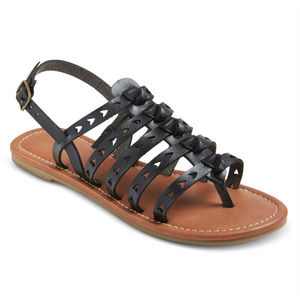 Mossimo Lori Open-Toe Galdiator Sandals, Black